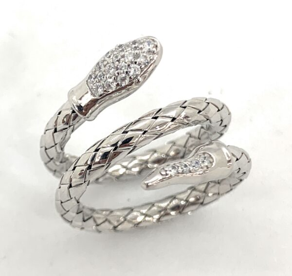 Anello serpente argento