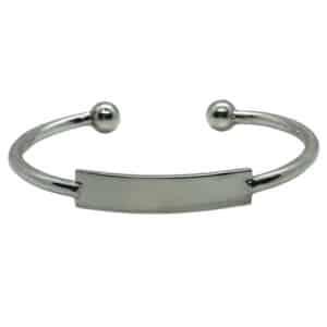 bracciale argento con targhetta